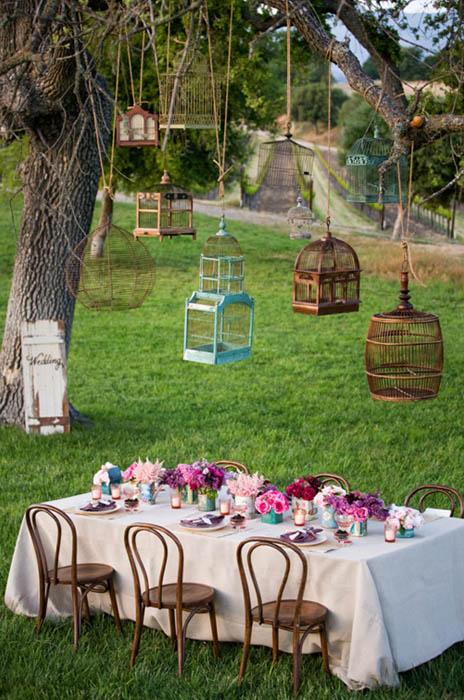 Decora tu boda con jaulas perla y paniculata for Decoracion con jaulas
