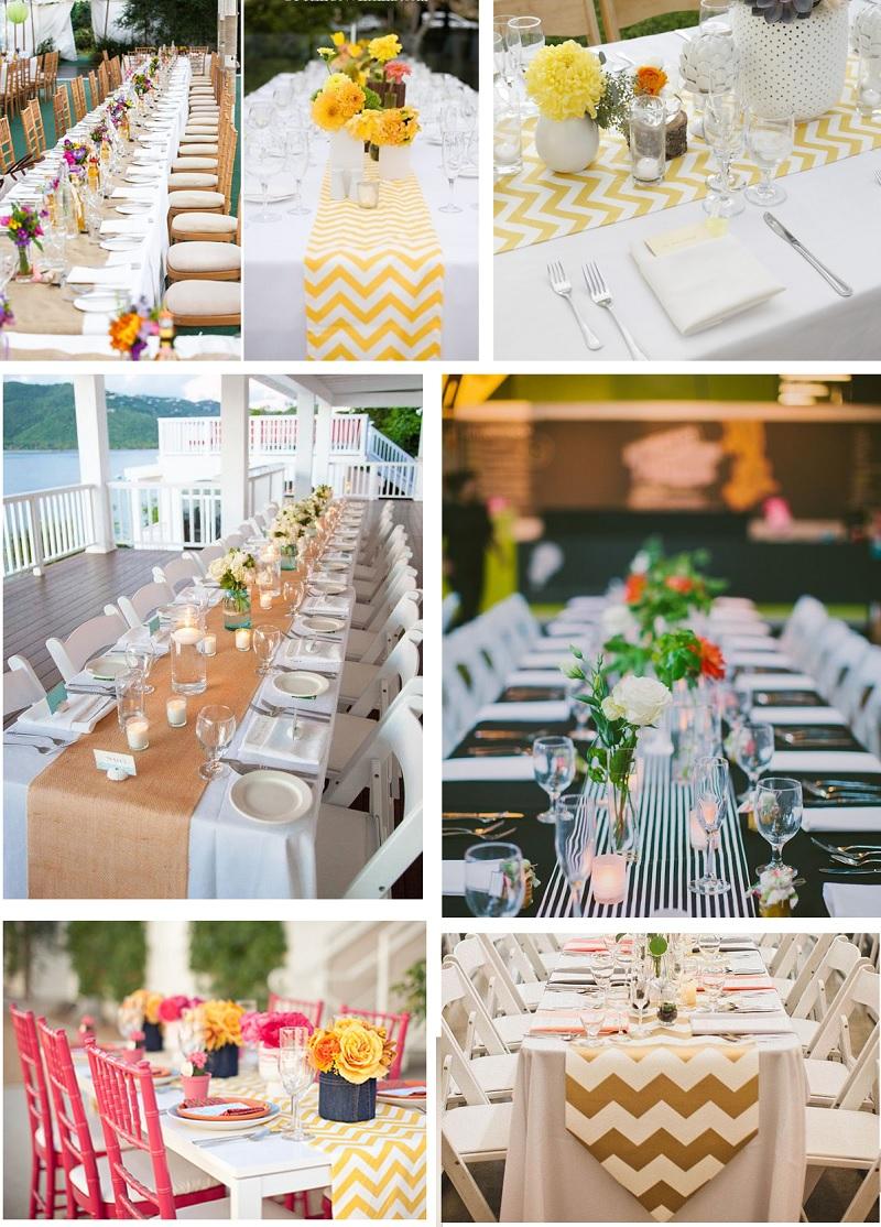 Pon caminos de mesa en tu boda pyp for Caminos para mesas redondas