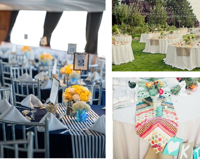 Pon caminos de mesa en tu boda perla y paniculata for Caminos para mesas redondas