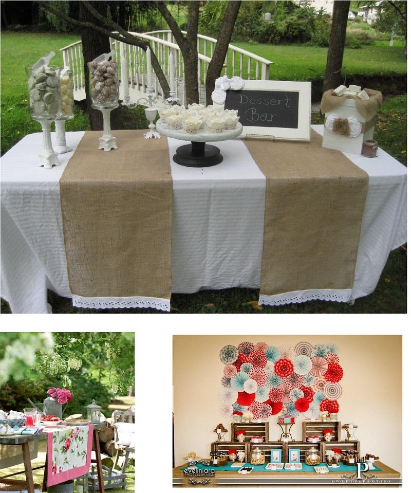 Pon caminos de mesa en tu boda perla y paniculata - Caminos de mesa de papel ...