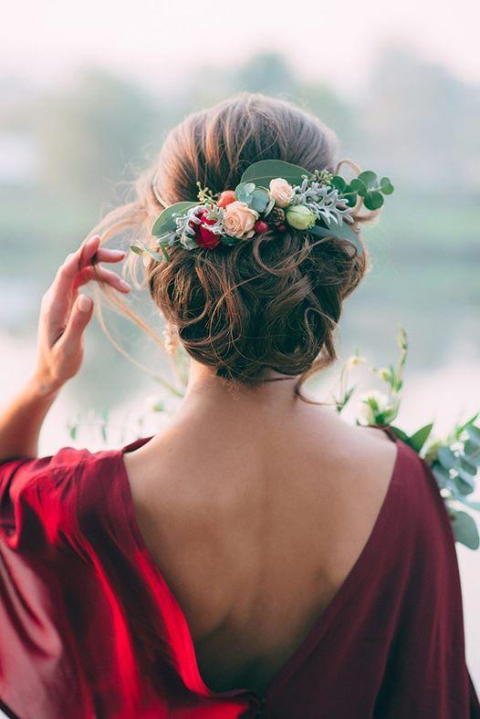 Novias con tocados de flores naturales PYP